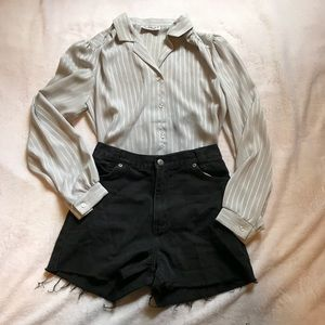 AUTHENTIC VINTAGE 80's SHEER BLOUSE